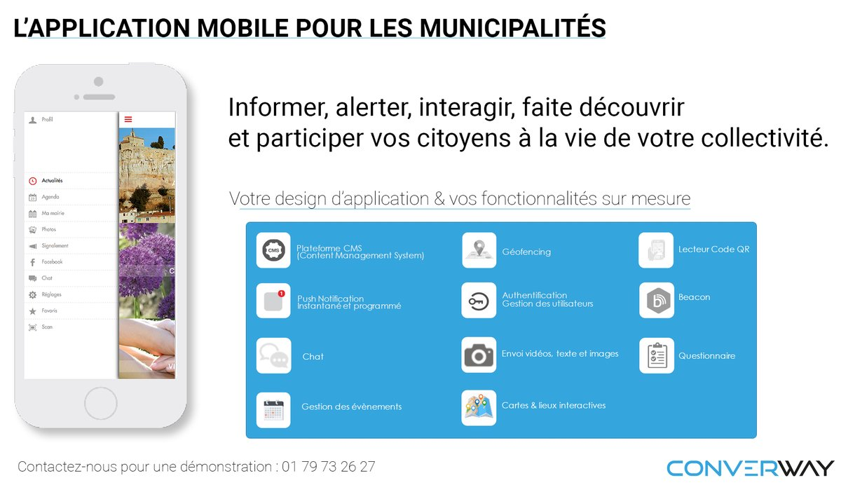 Application mobile à destination des municipalités